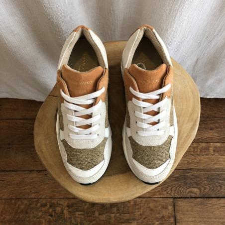sneakers JACQUES lurex de dessus