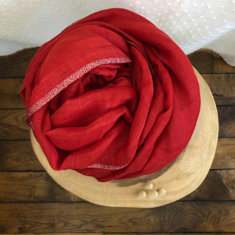 foulard IBIZA bordeaux